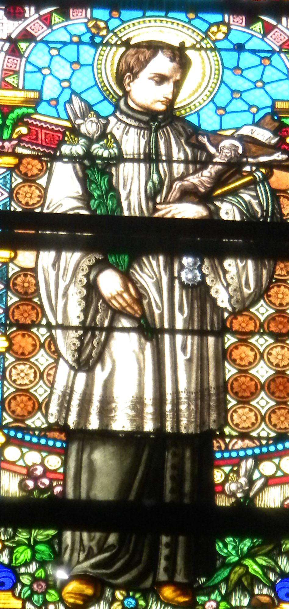 Alojzij Gonzaga v cerkvi Sv Jerneja v Vojniku Foto:Urh Ferlež