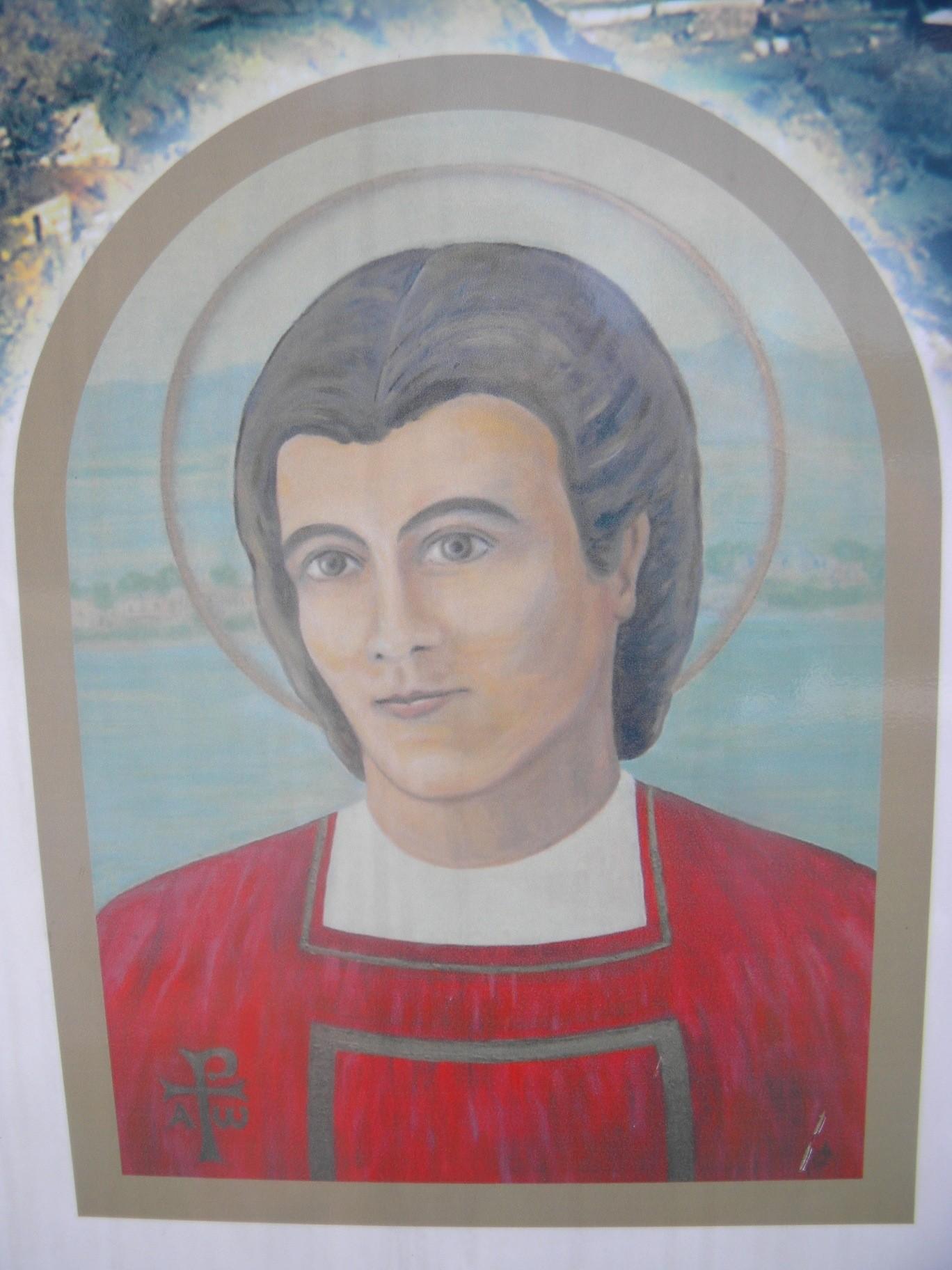 Blaženi Elio v cerkvi bl. Elia v Koštaboni Foto:Urh Ferlež